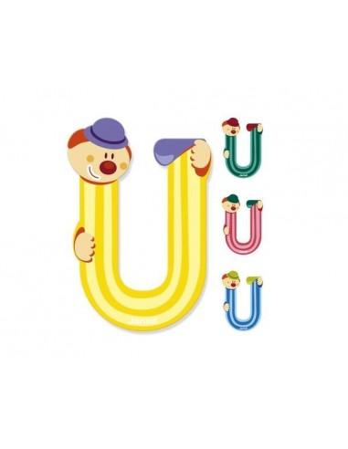 Lettre Bois Clown U - Janod