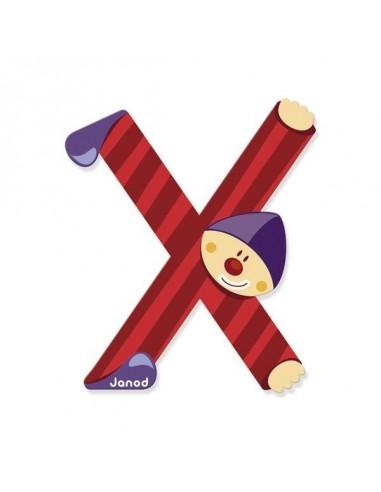 Lettre Bois Clown X - Janod