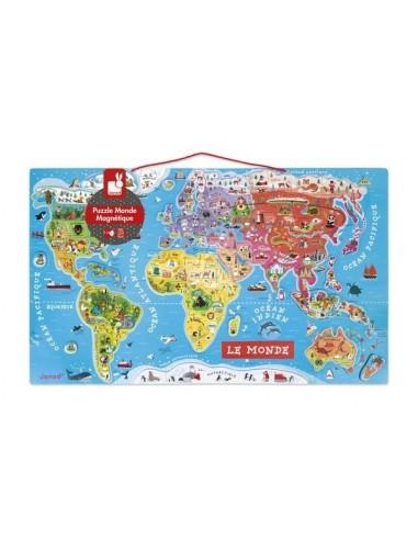 Puzzle Carte Du Monde Magnétique Janod