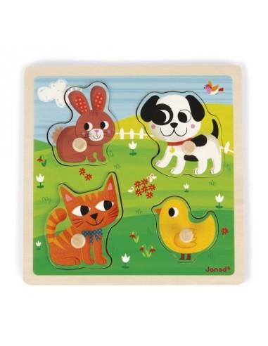 Puzzle tactile mes premiers animaux -...