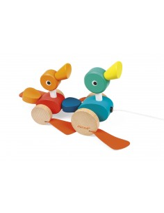 Jouet à tirer Duck family