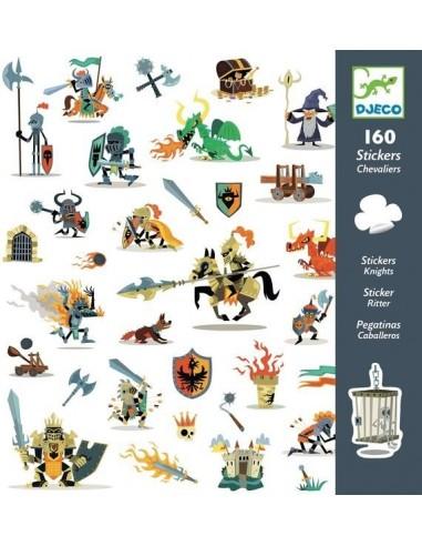160 stickers de chevaliers - Djeco