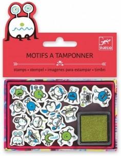 Mini tampons émoticones -...