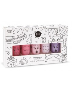 Coffret 5 vernis PARTY