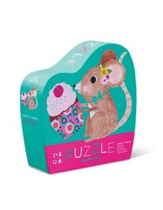 Mini puzzle souris 12 pièces