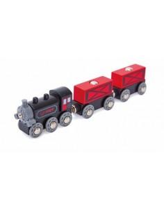Train de marchandises à vapeur