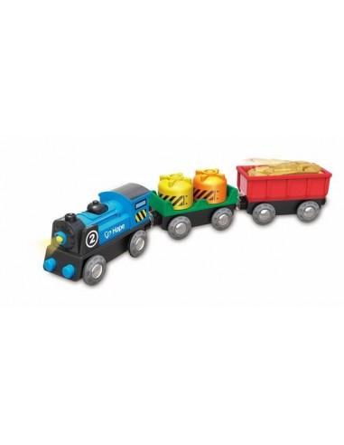 Train de marchandises à piles - Hape