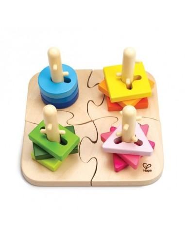 Puzzle à boutons créatifs - Hape