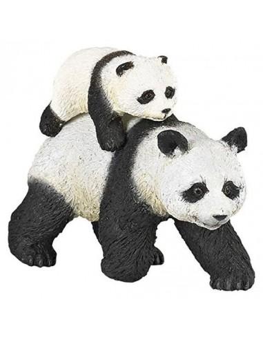 Figurine panda et son bébé - Papo