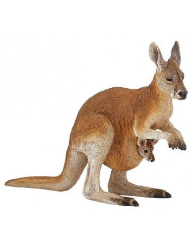 Figurine kangourou et son bébé - Papo