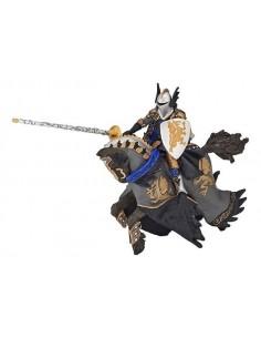Figurines prince noir au dragon et son cheval
