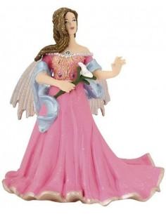 Figurine elfe rose au lys -...