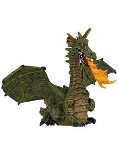 Figurine dragon ailé vert...