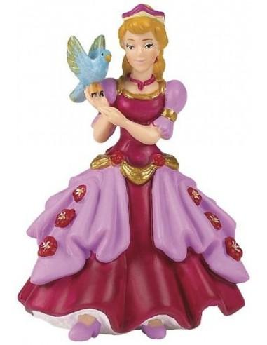 Figurine princesse rose à l'oiseau -...