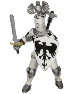 Figurine chevalier blanc au cimier