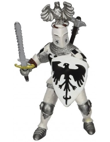 Figurine chevalier blanc au cimier -...