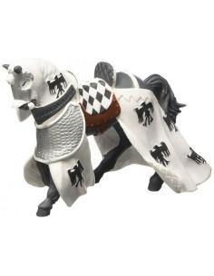 Figurine cheval drapé blanc...