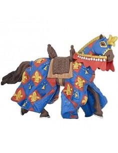 Figurine cheval bleu fleur...