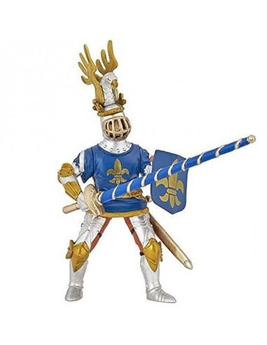 Figurine chevalier bleu fleur de lys...