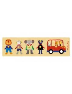 Puzzle bus Les Popipop -...