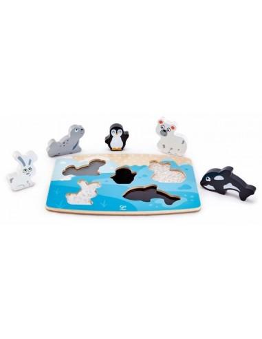 Puzzle tactile animaux polaires - Hape