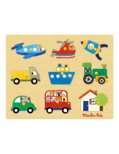 Puzzle des transports Les Popipop -...