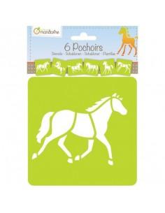 Pochoirs chevaux - Avenue...
