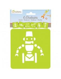 Pochoirs robots - Avenue...