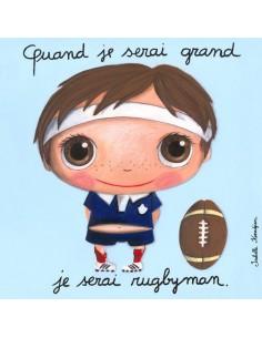 Tableau rugbyman - Quand je...