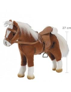 Cheval marron pour poupée -...