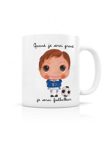 Mug footballeur - quand je serai grand