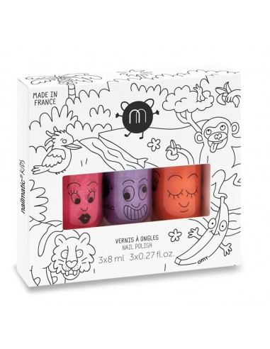 Coffret 3 vernis JUNGLE
