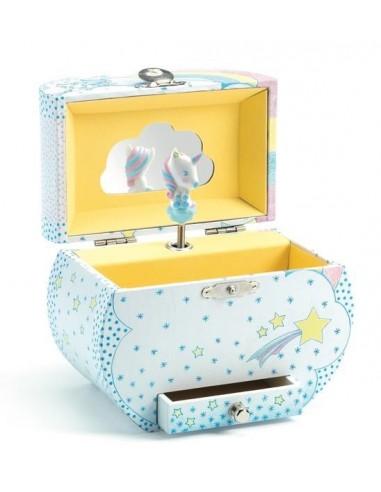 Boîte à musique rêves de licornes -...