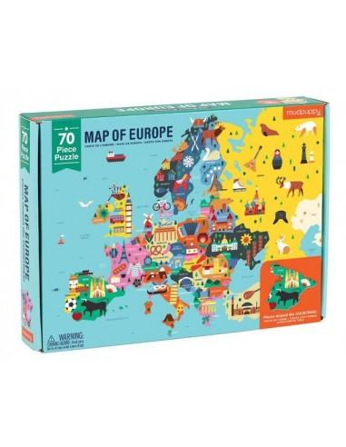 Puzzle carte de l'Europe 70 pièces