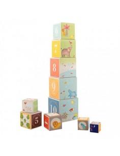 Cubes empilables Les papoum...