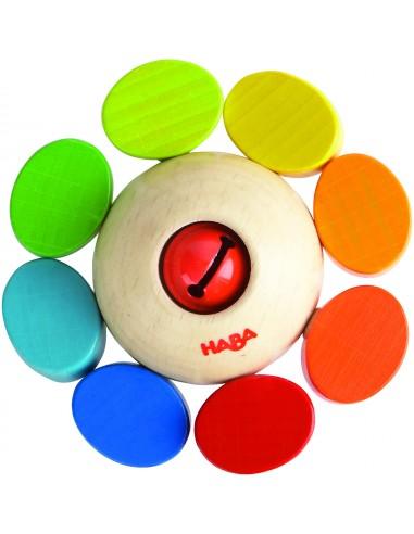 Hochet bois ronde des couleurs - Haba