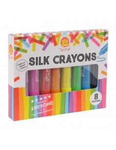 8 crayons arc en ciel