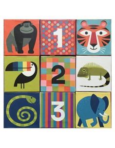 Cubes géants 123 jungle -...