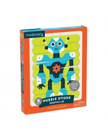 Puzzle sticks robots
