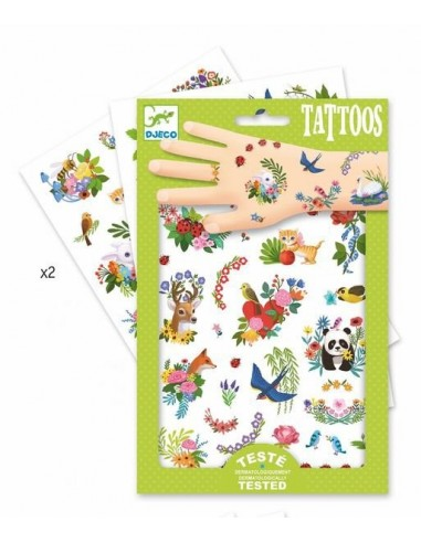 Tatouages happy spring - Djeco