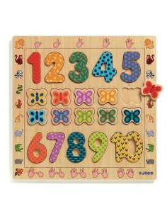 Puzzle chiffres en bois -...