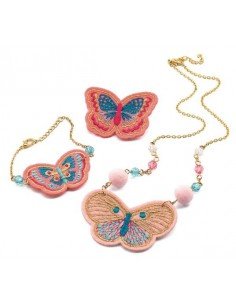 Bijoux brodés papillons