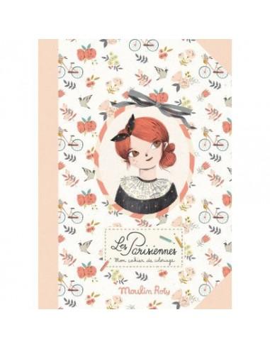 Cahier de coloriage Les Parisiennes -...