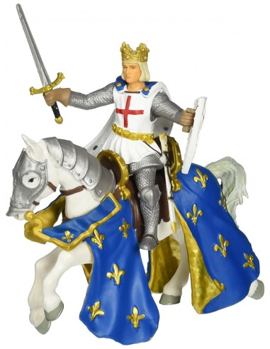 Figurines saint louis et son cheval -...