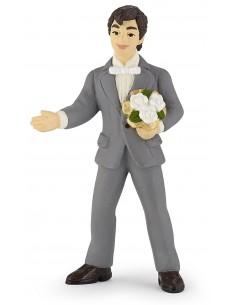 Figurine marié au bouquet