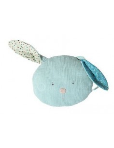 Coussin tête lapin bleu Les...
