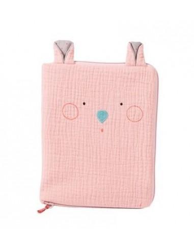 Protège carnet de santé souris rose...