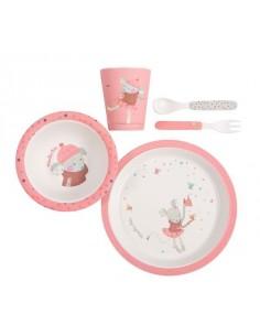 Set vaisselle rose les jolis trop beaux