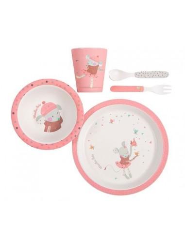 Set vaisselle rose les jolis trop...