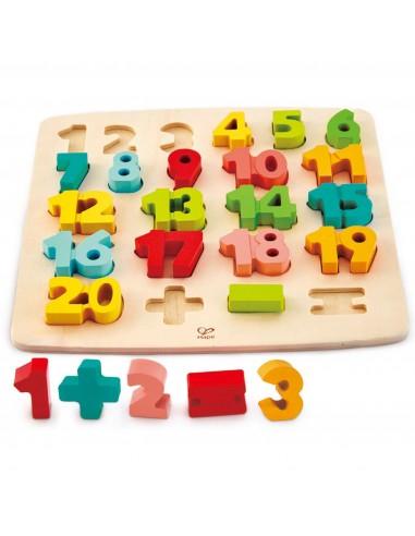 Puzzle de nombres - Hape